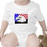 Bandera americana Eagle orgullo del 4 de julio Trajes De Bebé