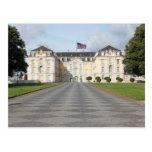Bandera americana en castillo alemán tarjetas postales