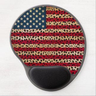 Bandera americana en diseño de la impresión del alfombrilla gel