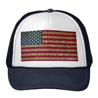 Bandera americana en diseño de la impresión del pu
