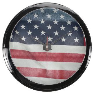 Bandera americana en el condado de Sussex justo Relojes Aqua Clock
