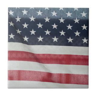 Bandera americana en el condado de Sussex justo Azulejo