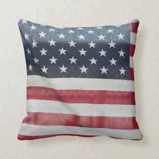 Bandera americana en el condado de Sussex justo Almohadas