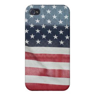 Bandera americana en el condado de Sussex justo iPhone 4/4S Funda