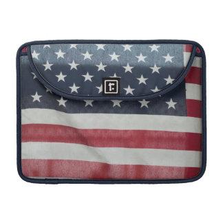 Bandera americana en el condado de Sussex justo Fundas Macbook Pro