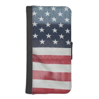 Bandera americana en el condado de Sussex justo Fundas Cartera De iPhone 5