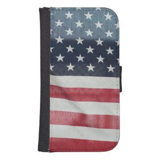 Bandera americana en el condado de Sussex justo Fundas Billetera Para Teléfono