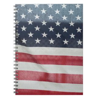 Bandera americana en el condado de Sussex justo Libretas