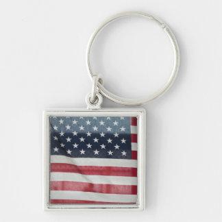 Bandera americana en el condado de Sussex justo Llavero Personalizado