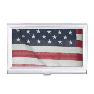 Bandera americana en el condado de Sussex justo Caja De Tarjetas De Negocios