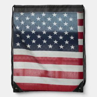 Bandera americana en el condado de Sussex justo Mochila