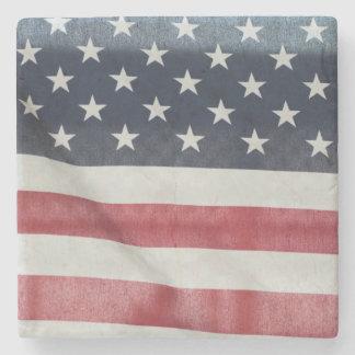 Bandera americana en el condado de Sussex justo Posavasos De Piedra