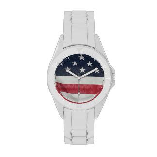 Bandera americana en el condado de Sussex justo Reloj