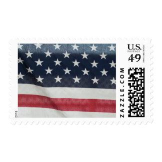Bandera americana en el condado de Sussex justo Sello