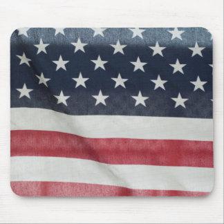 Bandera americana en el condado de Sussex justo Alfombrillas De Ratones
