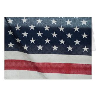 Bandera americana en el condado de Sussex justo Felicitaciones
