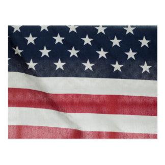Bandera americana en el condado de Sussex justo Tarjetas Postales