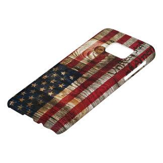 Bandera americana en el tablero de madera fundas samsung galaxy s7