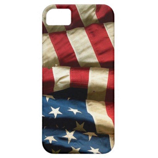 Bandera americana en la casamata apenas There™ del iPhone 5 Fundas