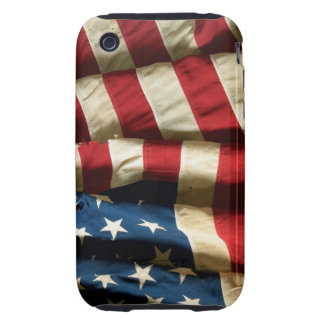 Bandera americana en la casamata Tough™ del iPhone Tough iPhone 3 Protector