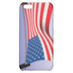 Bandera americana en línea de ropa