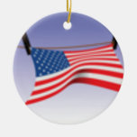 Bandera americana en línea de ropa ornamentos de reyes