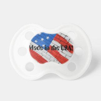 Bandera americana en pacificador del personalizado chupetes de bebé