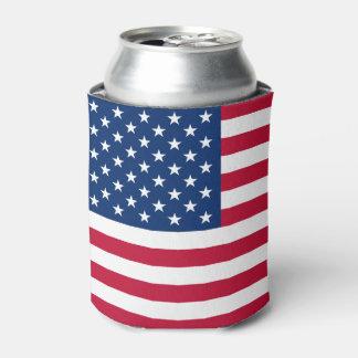 Bandera americana enfriador de latas