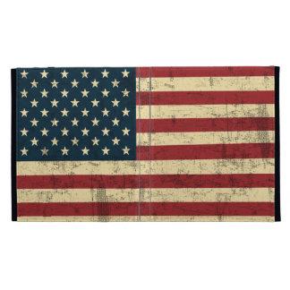 Bandera americana envejecida apenada