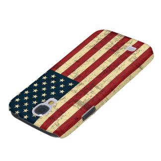 Bandera americana envejecida apenada funda para galaxy s4