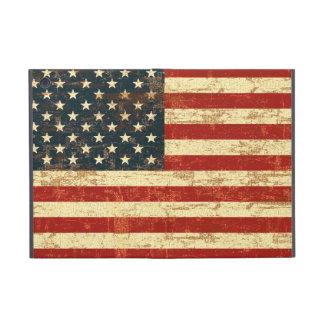 Bandera americana envejecida apenada iPad mini funda
