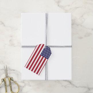 Bandera americana etiquetas para regalos