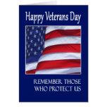 Bandera americana feliz de la tarjeta de felicitac