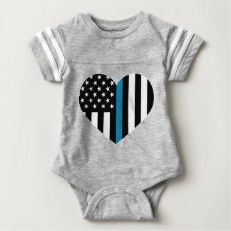 Bandera americana fina de Blue Line Body Para Bebé