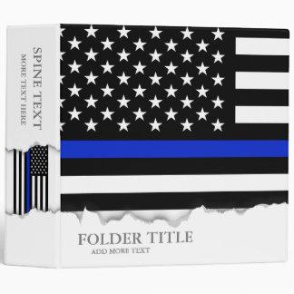 "Bandera americana fina de Blue Line Carpeta 2"""