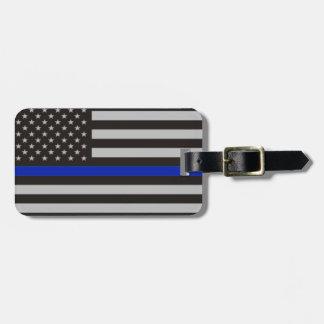 Bandera americana fina de Blue Line Etiqueta Para Equipaje