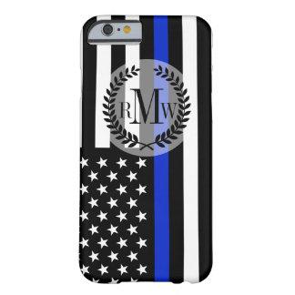Bandera americana fina de Blue Line Funda Para iPhone 6 Barely There