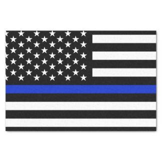 Bandera americana fina de Blue Line Papel De Seda Pequeño