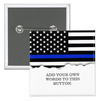 Bandera americana fina de Blue Line Pin Cuadrado