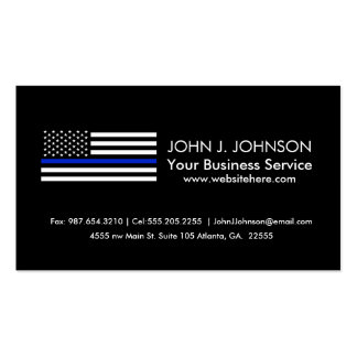 Bandera americana fina de Blue Line Tarjetas De Visita