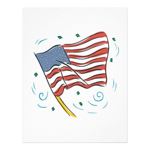 Bandera americana tarjetón