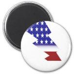 Bandera americana - forma del relámpago imán para frigorífico