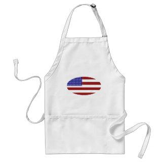 Bandera americana - formas únicas delantales
