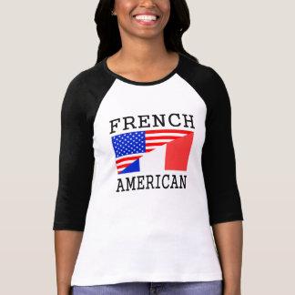 Bandera americana francesa playera