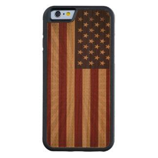 Bandera americana funda de iPhone 6 bumper cerezo