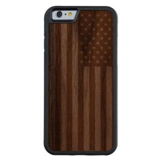 Bandera americana funda de iPhone 6 bumper nogal