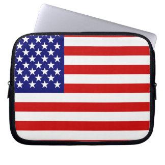 Bandera americana manga computadora