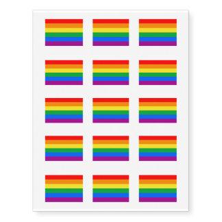 Bandera americana gay - arco iris 13 colors.png tatuajes temporales