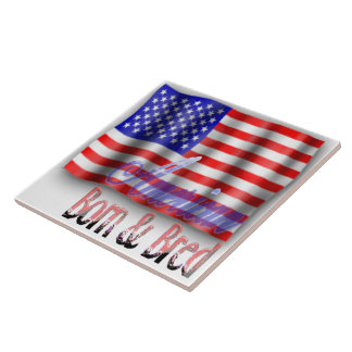 Bandera americana • Grande • Teja