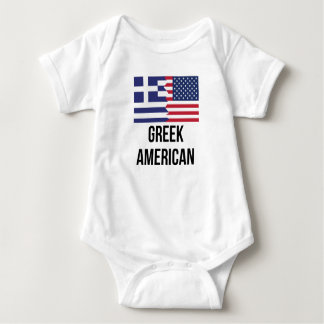 Bandera americana griega body para bebé